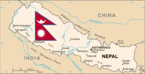Nepal reikt met haar Himalaya toppen in de eeuwige sneeuw. Haar voeten rusten warm in het geboorteland van Boeddha.